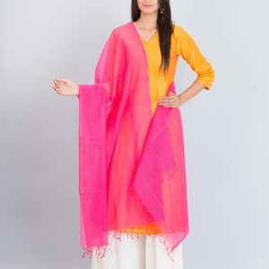 Cotton Woven Missing Check Dupatta