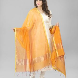 Silk cotton Chanderi Boond Buti Dupatta