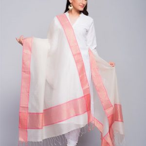 Silk Cotton Maheshwari Mukaish Arrow Dupatta