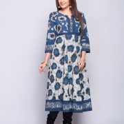 Cotton Cambric Empireline Printed Long Kurta