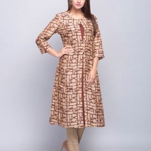 Silk Cotton Double Layer Front Open 2 Piece Kurta Set
