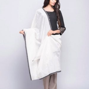 Silk Cotton Chanderi Geometric Khari Dupatta