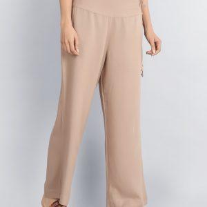 Viscose Plain Drawstring Tassel Pant