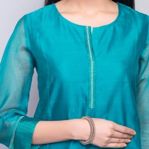 Silk Cotton Maheshwari Mini Kurta