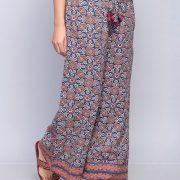 Cotton Ajrakh Printed Border Detail Ijar Pant