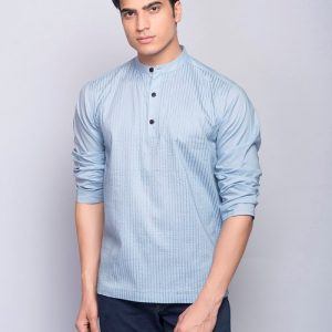 Cotton Cambric Front Stitched Super Short Kurta