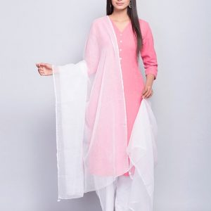 Cotton Silk Kota Mukaish Dupatta