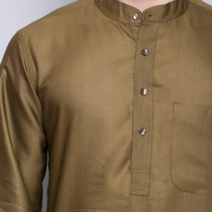 Tussar Viscose Plain Long Kurta