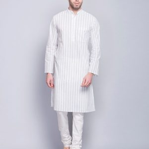Cotton Cambric Printed Fitted Long Kurta