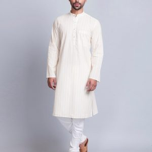 Cotton Cambric Khari Fitted Long Kurta