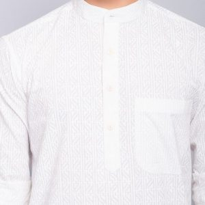 Cotton Cambric Khari Printed Short Kurta