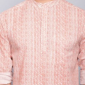 Cotton Cambric Printed Super Short Kurta
