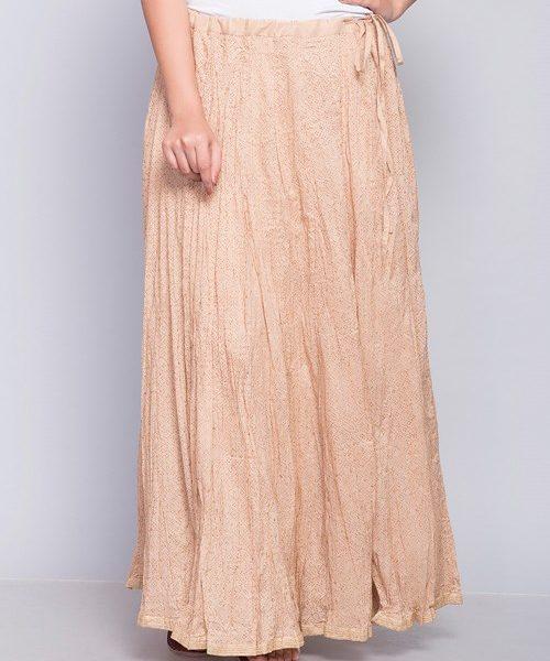 Viscose Printed Crinkle Long Skirt