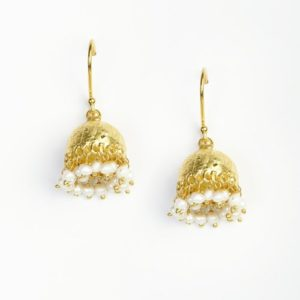 Silver Anusuya ES 1035 Jhumka Earrings