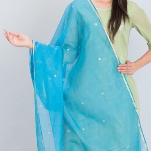 Silk Cotton Chanderi Buti Dupatta