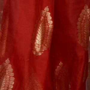 Silk Cotton Chanderi Woven Gul Sari