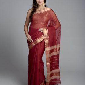 Silk Cotton Maheshwari Handloom Kota Sari