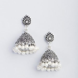 Metal Anusuya EM 330 Pearl Jhumka Earrings