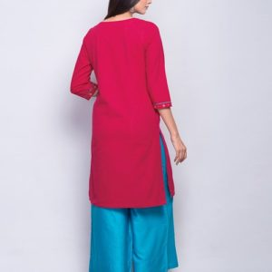 Cotton Sequin Yoke Mini Kurta