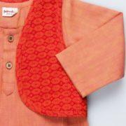 Cotton Dobby Kurta and Jacket Set