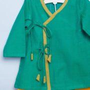 Cotton Dobby Anghrakha Dhoti Set