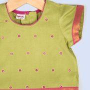 Silk Cotton Embroidered Choli Lehenga Set