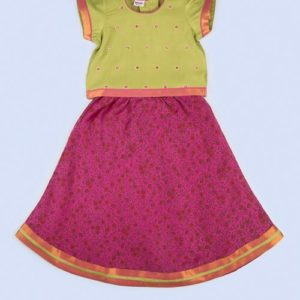 Silk Cotton Embroidered Choli Lehenga Set