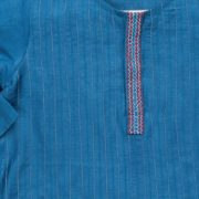 Tussar Cotton Embroidered Placket Long Kurta