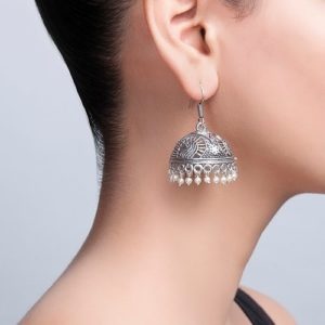 Metal Amna EGS 3803 Jhumka Earrings