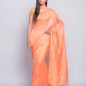 Cotton Silk Woven Loom Temple Zari Border Sari