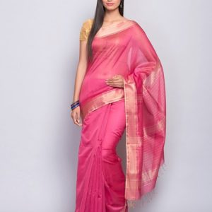 Silk Woven Loom Woven Loom Plain Sari