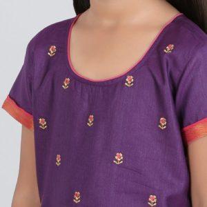 Silk Cotton Printed Embroidered Choli Lehenga Set