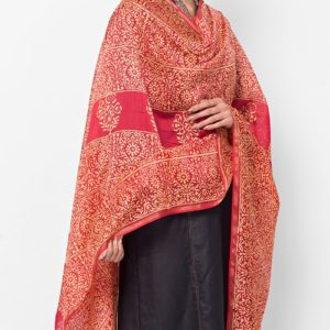Silk Cotton Chanderi Patalpushp Dupatta
