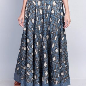 Cotton Printed Tassel Long Skirt