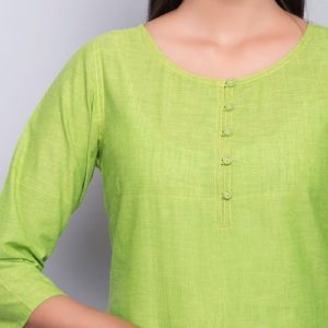 Cotton Top Stitch Tunic