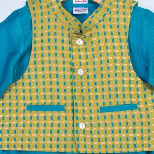 Tussar Cotton Jacket & Kurta Set