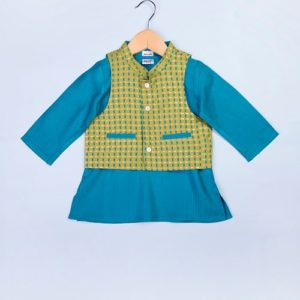 Tussar Cotton Jacket & Kurta Set