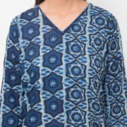 Cotton Cambric Combination Panel Mini Kurta