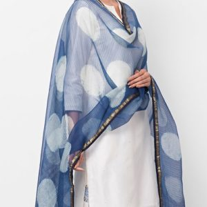 Silk Tissue Dabu Printed Dupatta