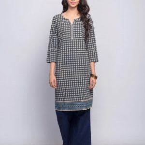 Cotton Printed Dabu Mini Kurta