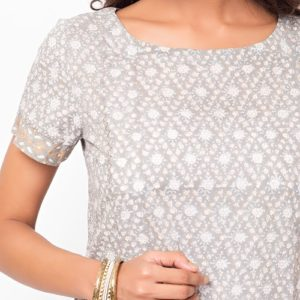 Cotton Mull Khari Printed Mini Kurta