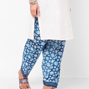 Cotton Mull Dabu Printed Salwar