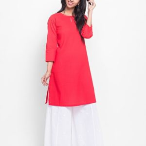 Cotton Mull Pintuck Detail Mini Kurta