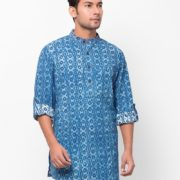 Cotton Cambric Printed Short Kurta