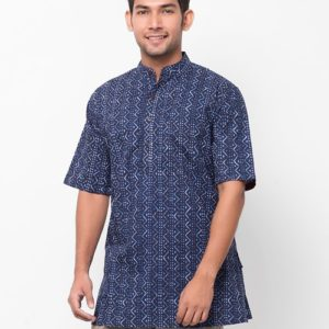 Cotton Cambric Printed Half Sleeves Short Kurta